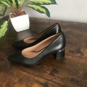 ESSEX LANE Deeana Black Block Heels